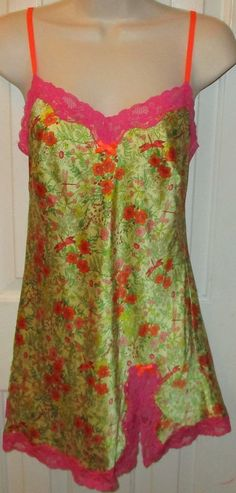 Womens Beautiful Victoria's Secret Floral Slip Nightgown Chemise Size XS Nice | eBay