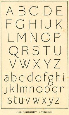 Skeleton typeface by J. Vinycomb