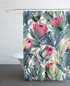 Painted Protea Pattern VON Micklyn Le Feuvre now on JUNIQE!