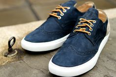 Filling Pieces Brogue - Navy Shoes $140
