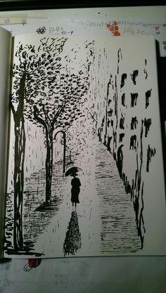 #pioggia #passeggio