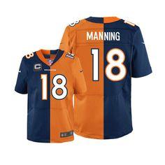 0f0037857 Peyton Manning Denver Broncos Navy Orange Two Tone C Patch Jersey Denver  Broncos Peyton Manning