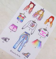 Likes, Comments – Daily Art (Lisa Cohen)… Kawaii Drawings, Art Drawings Sketches, Disney Drawings, Cute Drawings Tumblr, Amazing Drawings, Fashion Design Drawings, Fashion Sketches, Drawing Fashion, Kawaii Clothes