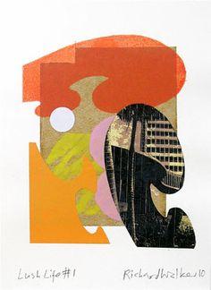 Richard Walker ~ Lush Life 1, Mono Print ~ Sandra Higgins