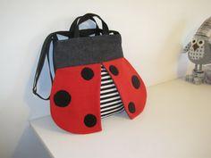 Diaper bag - cute  Ladybug -  for mommies, large bag