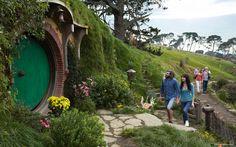 Hobbiton Movie Set in Matamata #NewZealand. #realmiddleearth #hobbit #LOTR
