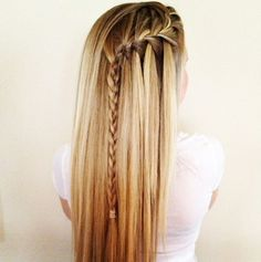 side-waterfall braid #hair
