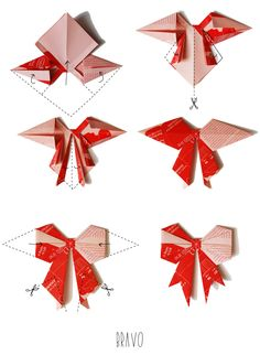 Bonjour Darling - Blog Illustration, Cuisine et DIY Bordeaux: Petits noeuds en origami