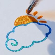 To Draw Cloud & OFF with code ?Glitter Cloud&Sun⛅✨ Get OFF with code The beautiful art is created by using Bold Line Glitter Pen, which is from Paper House -How To Draw Cloud & OFF with code ? Art Drawings For Kids, Pencil Art Drawings, Easy Drawings, Art Sketches, Bullet Journal Art, Bullet Journal Ideas Pages, Bullet Journal Inspiration, Gel Pen Art, Gel Pens