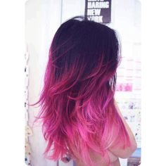 Stylish Stars Hairstyles Black Ombre Hair Color Hair Trend for Summer 2013 found on Polyvore