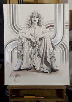 Original Sara Moon Artwork For Sale Moon Painting, Painting & Drawing, Moon Art, Sign Printing, Oil On Canvas, Original Artwork, Aurora Sleeping Beauty, Illustration Art, Art Prints