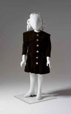 1900-1901 Dress, boy's, cotton velvet and silk, made in Australia via Powerhouse Museum, Sydney