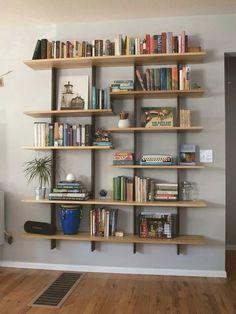 Surprising Tricks: Floating Shelf Arrangement Bookshelf Styling floating shelves over toilet vanities.Floating Shelf Arrangement Bookshelf Styling floating shelf above bed pillows. Creative Bookshelves, Floating Bookshelves, Modern Bookshelf, Floating Corner Shelves, Bookshelf Styling, Bookshelf Design, Bookshelf Ideas, Shelving Ideas, Bookshelf Decorating