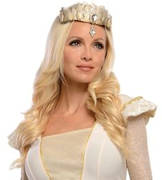 Glinda Tiara Oz Great Powerful Gold Fancy Dress Up Halloween Costume Accessory Up Halloween Costumes, Halloween Costume Accessories, Gold Tiara, The Good Witch, Fancy Dress Up, Shirt Hair, Ethereal Beauty, Costume Wigs, Womens Wigs
