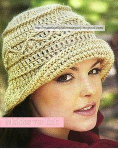Materiales gráficos Gaby: Sombreros en crochet con patrones