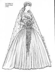 wedding dress 1942