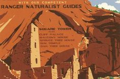 WPA-Style Poster of Mesa Verde from ColoradoCreates.com