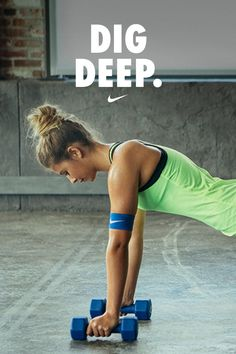 Dig deep. Find the strength to keep going and crush your workout.