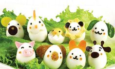 Animal egg from Japanese Bento Accessories - food cutter for quail eggs - - Sushi Sandwich, Sushi Maker, Food Cutter, Cute Egg, Food Art For Kids, Cute Bento, Food Carving, Quail Eggs, Food Garnishes