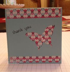 Butterfly Punch Thank You note