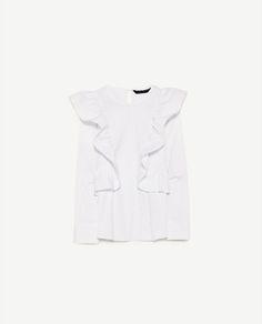 Image 6 of FRILLED POPLIN TOP from Zara