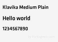 Klavika Medium Medium : Download For Free, View Sample Text, Rating And More On Fontsgeek.Com