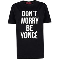 Boohoo Millie Don't Worry Slogan Tee ($14) ❤ liked on Polyvore featuring tops, t-shirts, cotton tee, slogan t-shirts, henley t shirt, henley tee and t shirts