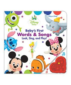 Another great find on #zulily! Disney Baby First Words & Songs Board Book…