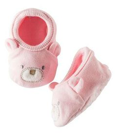 Adorable little booties for baby girl's tiny tootsies from HallmarkBaby.com