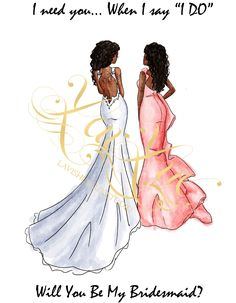 Will You Be My Bridesmaid Cards. Bridesmaid Gifts. By LavLuxBride from Lavishly Lux Studio. Purchase cards at https://www.zazzle.com/lavishlylux* African American / Black Bride and Bridesmaid Wedding, ideas. We are also wedding photographers for the Dallas/ Houston and LA areas. http://www.lavishlylux.com