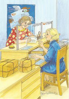 a postcard from Finland, illustrated by Marja-Liisa Pitkäranta