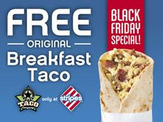 FREE Breakfast Taco at Stripes Stores on http://www.icravefreebies.com/