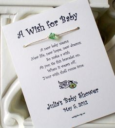 A Wish for Baby Wish Bracelet Party Favor Custom by madebydina