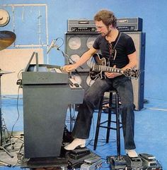 Robert Fripp, King Crimson.  A gearhead's gearhead.