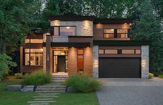Ideas for modern house exterior contemporary small Modern House Plans, Modern House Design, Small Modern House Exterior, Bungalow Exterior, Exterior Siding, Black Exterior, Building Exterior, Modern Homes, Exterior Paint