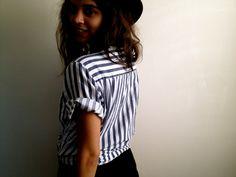Vintage Striped S/S Top