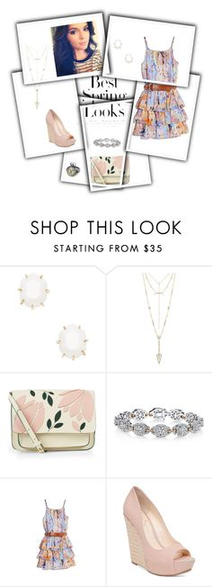 """""""Spring Set"""" by wine-and-sparkles ❤ liked on Polyvore featuring H&M, Kendra Scott, House of Harlow 1960, Accessorize, Harry Kotlar, GUESS by Marciano and Jessica Simpson"""