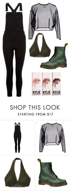 """""""greeeeeeeen"""" by fgshannah ❤ liked on Polyvore featuring New Look, Yves Saint Laurent, Hollister Co. and Dr. Martens"""