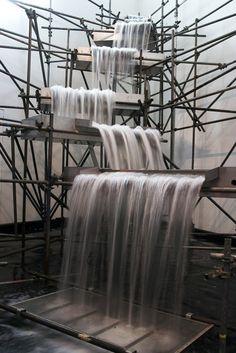 Waterfall (Installation view,Minding the world, ARoS AArhus Kunstmuseum,2004) Olafur Eliasson