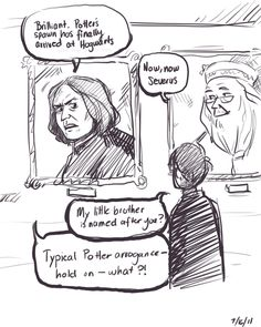 Snape learns about Albus Severus