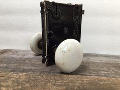 Antique Porcelain Door Knobs antique porcelain door knobs on original cast iron lock assembly