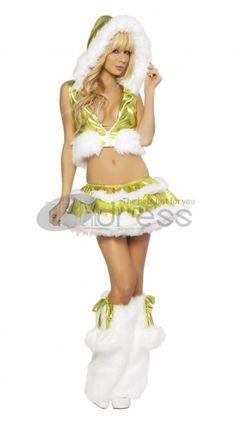 Christmas clothing ( light green hooded vest denim )