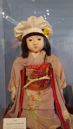 Happy Birthday, Miss Yamanashi! Miss Yamanashi has turned 88 this year! In Japan, the age of 88 is very important. To celebrate this auspicious anniversary of Miss Yamanashi's arrival to Wyoming, and to remember the dolls' mission, Ehime Action Group of the US-Japan Doll Exchange Program made special Peace Caps for all surviving dolls. Miss Yamanashi will wear her cap until the end of this year, so make sure to stop by the Wyoming State Museum. She is one of the featured artifacts.