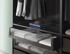 KOMPLEMENT lade met glazen front | #IKEAcatalogus #nieuw #2017 #IKEA #IKEAnl #slaapkamer #kast #garderobe #kleding #glazen #lade
