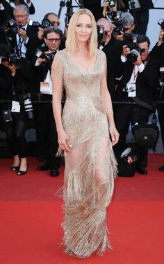 Uma Thurman from Cannes 2017: Best Dressed Stars  wearing Atelier Versace.
