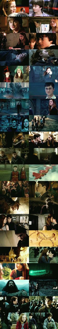 Harry and Ginny Gina Harry Potter, Harry Potter Journal, Harry Potter Ginny Weasley, Harry And Ginny, Harry Potter Feels, Images Harry Potter, Harry Potter Characters, Matthew Lewis, Desenhos Harry Potter