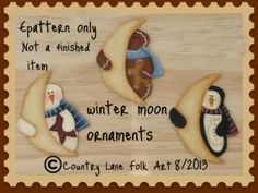 Epatterns - Country Lane Folk Art Hand painted country and primitive decor