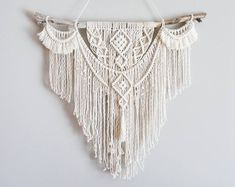 Dope Rope Large Macrame Wall Hanging / tapestry / macrame decor / boho decor / wall art / bohemian style / boho home / modern macrame Modern Macrame, Macrame Art, Macrame Projects, Macrame Knots, Décor Boho, Modern Bohemian, Bohemian Decor, Bohemian Style, Large Macrame Wall Hanging