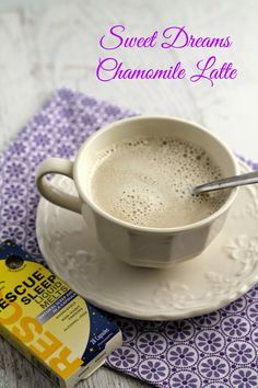 Add a creamy, quick, and comforting Sweet Dreams Chamomile Latte to your nightly bedtime routine