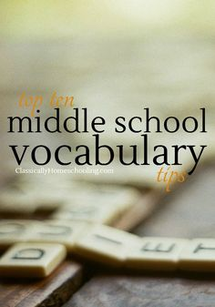 Building middle school vocabulary in our kids becomes increasingly important. The SAT and ACT tests are looming large. Advanced writing for high school and college require a larger vocabulary than young kids have. Source by classichomesch Vocabulary Instruction, Teaching Vocabulary, Vocabulary Activities, Academic Vocabulary, Vocabulary Strategies, Teaching Themes, Reading Strategies, Teaching Science, Educational Activities